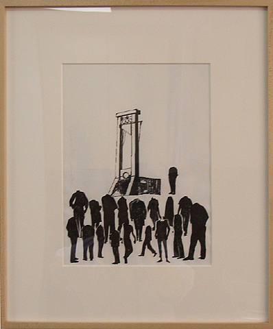 Liliana Moro, Un Mondo Senza Testa #8, 2003, Ink and collage on paper, 15 x 18 in.