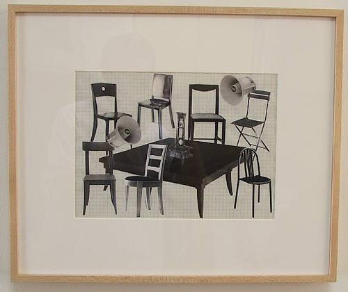 Liliana Moro, Un Mondo Senza Testa #6, 2003, Ink and collage on paper, 15 x 18 in.