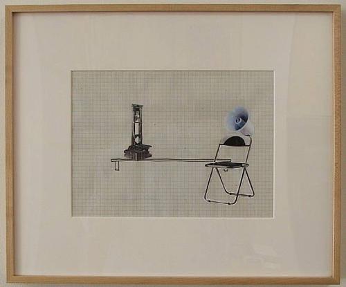Liliana Moro, Un Mondo Senza Testa #5, 2003, Ink and collage on paper, 15 x 18 in.