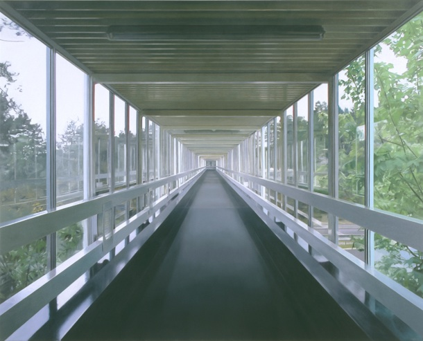 Paul Winstanley, Walkway, 2002, oil on linen, 185 x 273 cm