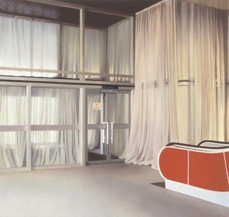 Paul Winstanley, Veiled Lobby, 2001, oil on linen, 75 x 80 cm
