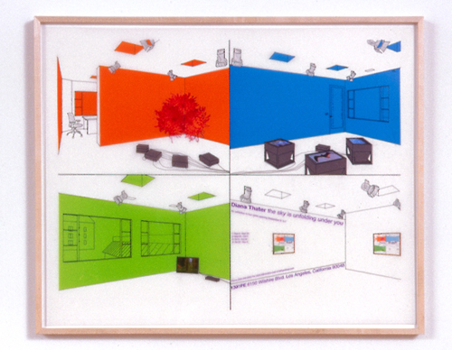 Diane Thater, 1301PE#1, 2001, Ink on mylar with pantone and inkjet prints, 25 1/2 x 31 1/2 in.