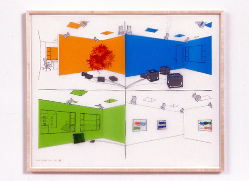 Diane Thater, 1301PE#3, 2001, Ink on mylar with pantone and inkjet prints, 25 1/2 x 31 1/2 in.