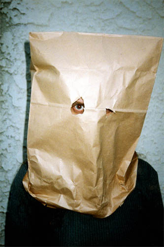 Andrea Bowers, Bagheads, 1999-2000, Portfolio of seven digital photo prints, 36 x 50 in.