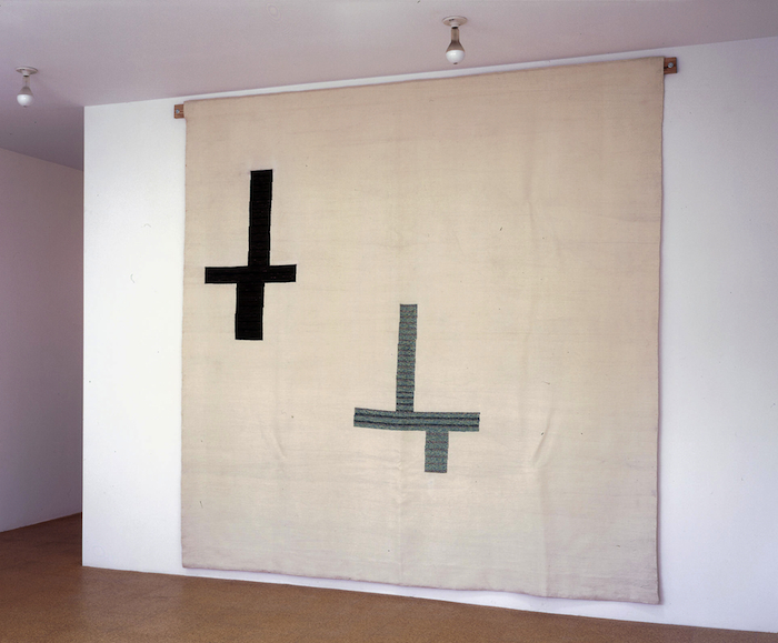 Jorge Pardo, Tea Time, 1998, haute lisse tapestry, wool, 118 x 118 inches, 299.7 x 299.7 cm.