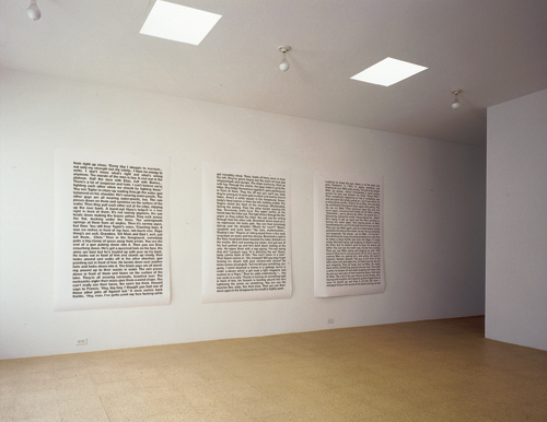 Fiona Banner, The NAM Pages, Brian Butler Selection, installation view, 2000