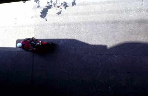 Rirkrit Tiravanija, Untitled (motorcycle), 1998-99, Ultra glossy c-print on vinyl frame in MDF, 20 1/2 x 14 3/4 in.