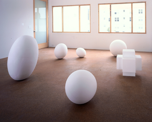 Fiona Banner, Full Stops, installation view, 1998