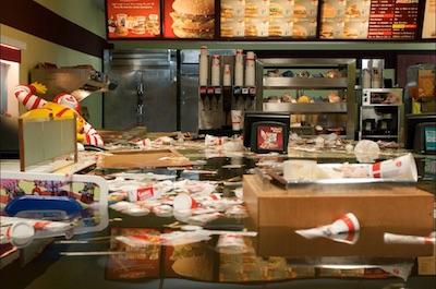 SUPERFLEX, Still from Flooded McDonald's, 2009