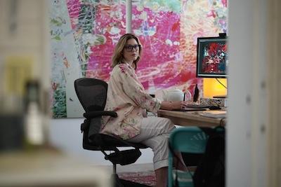 Portrait courtesy of Petra Cortright's studio.