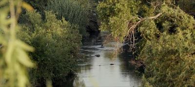 """A still of the Los Angeles River from Kerry Tribe's """"Exquisite Corpse"""" 2016."""