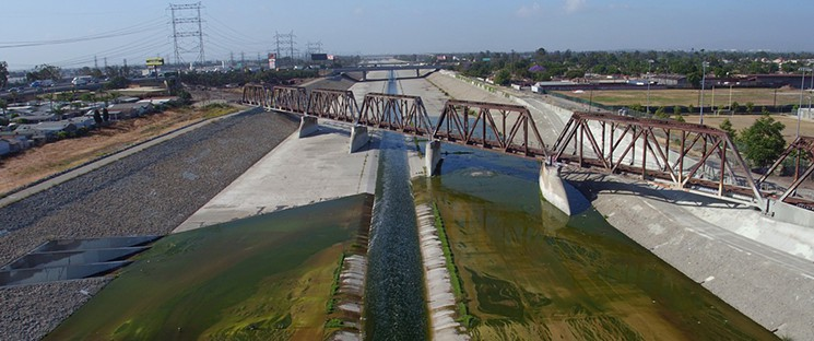 A Still of the Los Angeles River from Kerry Tribe's 'Exquisite Corpse'