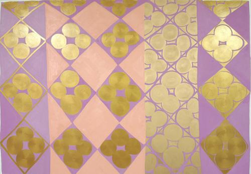 Judy Ledgerwood, Shalimar, 2004, Oil on canvas, 84 x 120 in.
