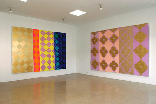 Judy Ledgerwood, Installation view, 2004