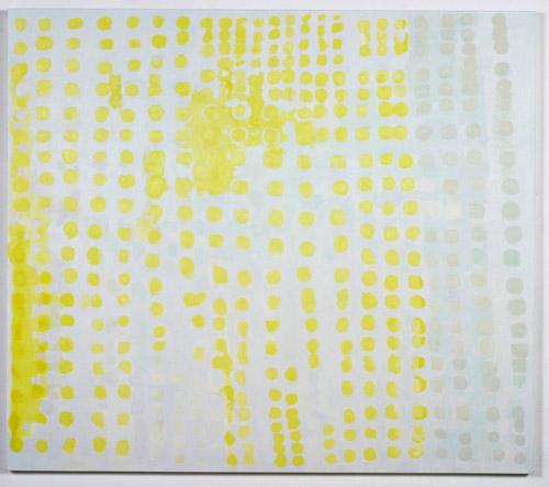 Judy Ledgerwood, Groovin' On Lemon + Silver, 1996, Oil & wax on canvas, 84 x 96 in.