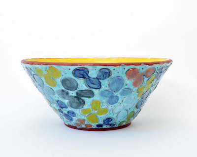Judy Ledgerwood,  Celadon Large Bowl with Scored Motif , 2017