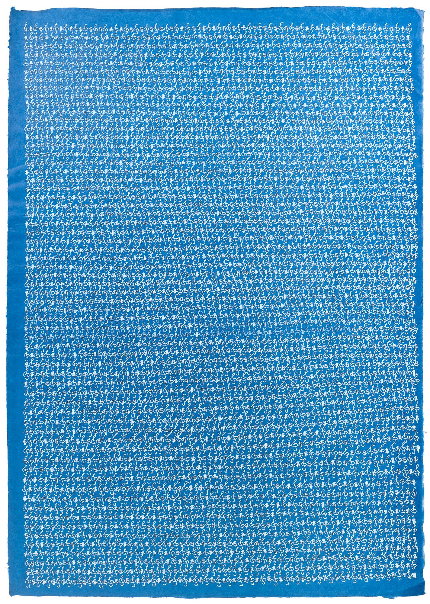 "Ana Prvacki, ""Various keys,"" 2013, Gel pen on Gampi paper, 34.75 x 26.5 inches (framed)"