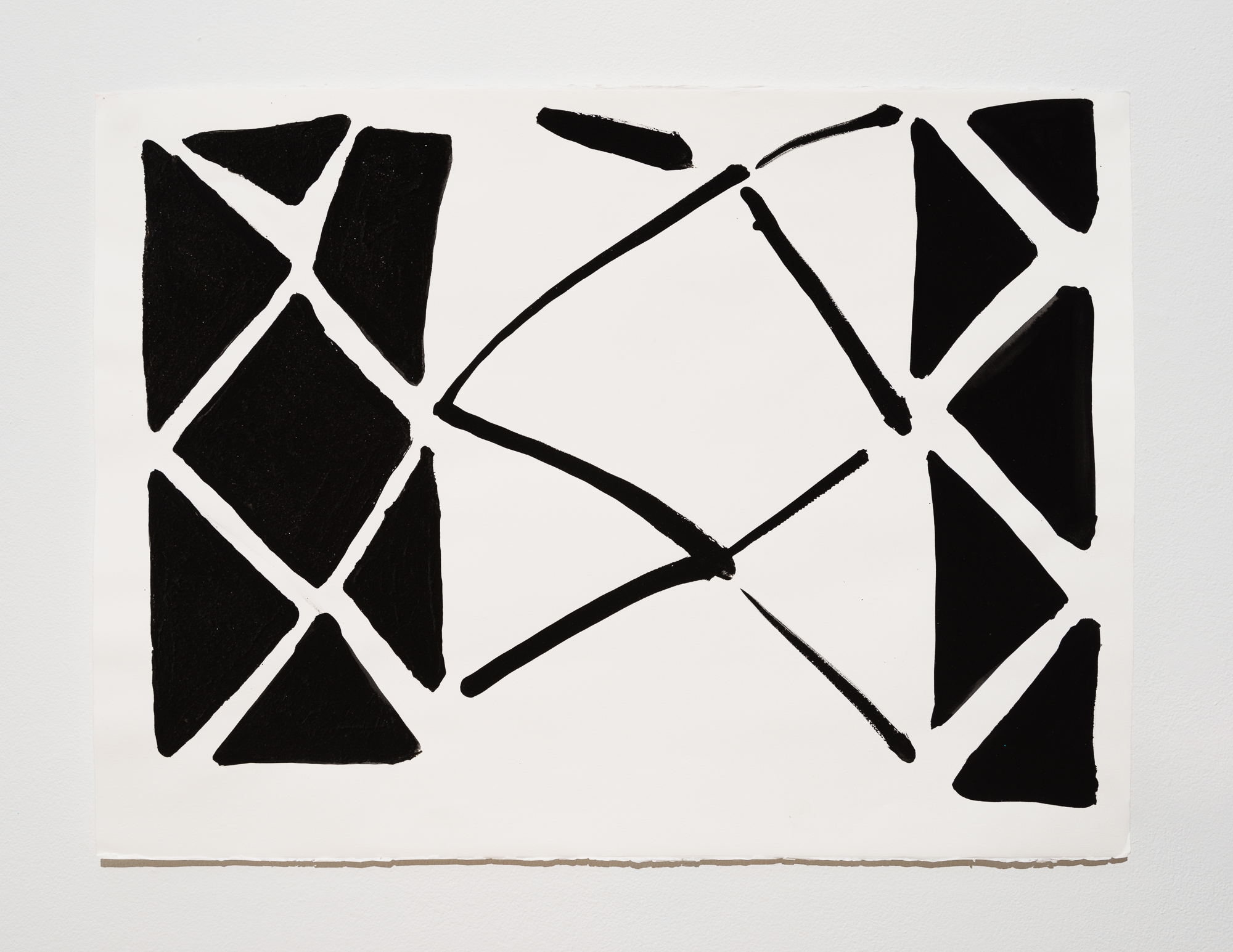 """Judy Ledgerwood, """"Friends and Enemies #3,"""" 2003, Water based media on paper, 22.5 x 30 inches"""