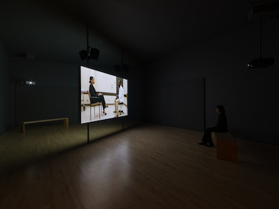 New Work: Kerry Tribe, 2017. Installation view, SFMOMA. Photo: Katherine Du Tiel.