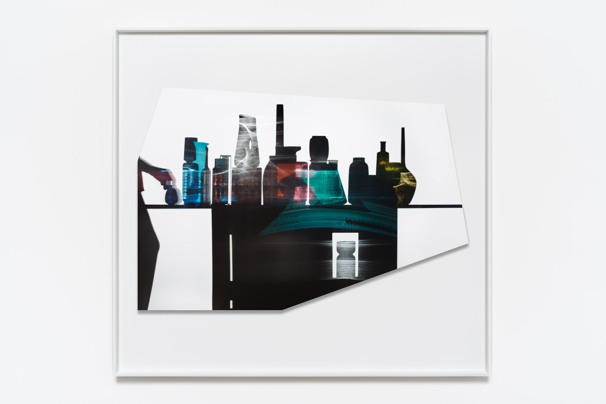 Uta Barth, In the Light and Shadow of Morandi (17.11), 2017, face mounted, raised, shaped, Archival Pigment print in artist frame, 48.75 x 52.75 x 1.75 inches (framed), edition of 6, 2 APs.