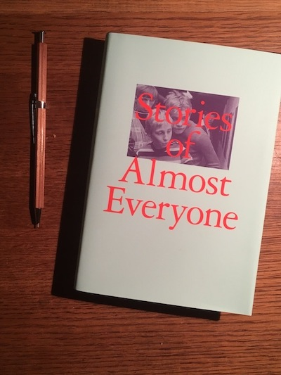Stories of Almost Everyone, book cover, organized by Aram Moshayedi
