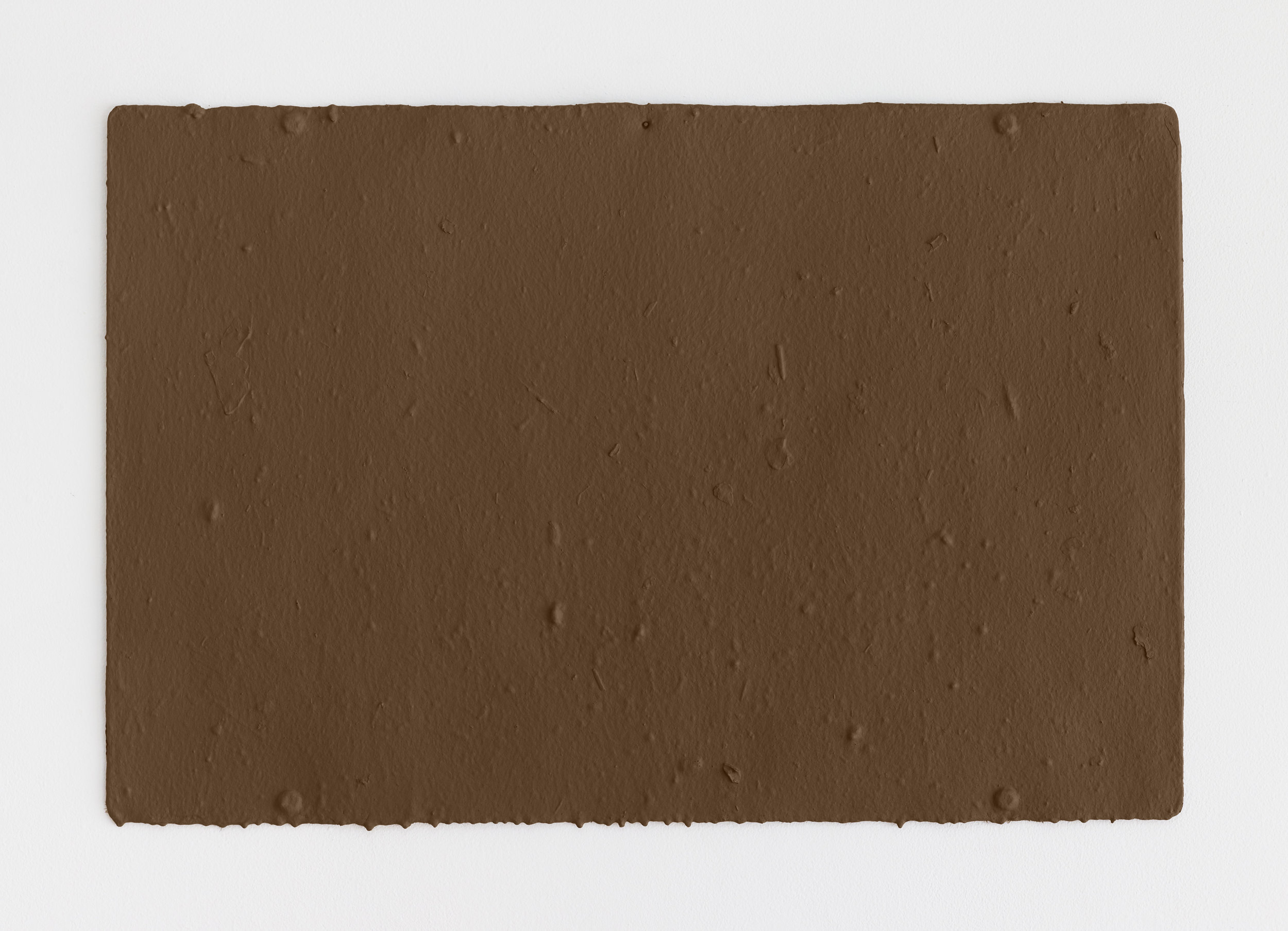 Fiona Connor, Untitled #15 (5230 Santa Monica Blvd, Los Angeles, CA 90029), 2018. Cast resin, brown acrylic paint.