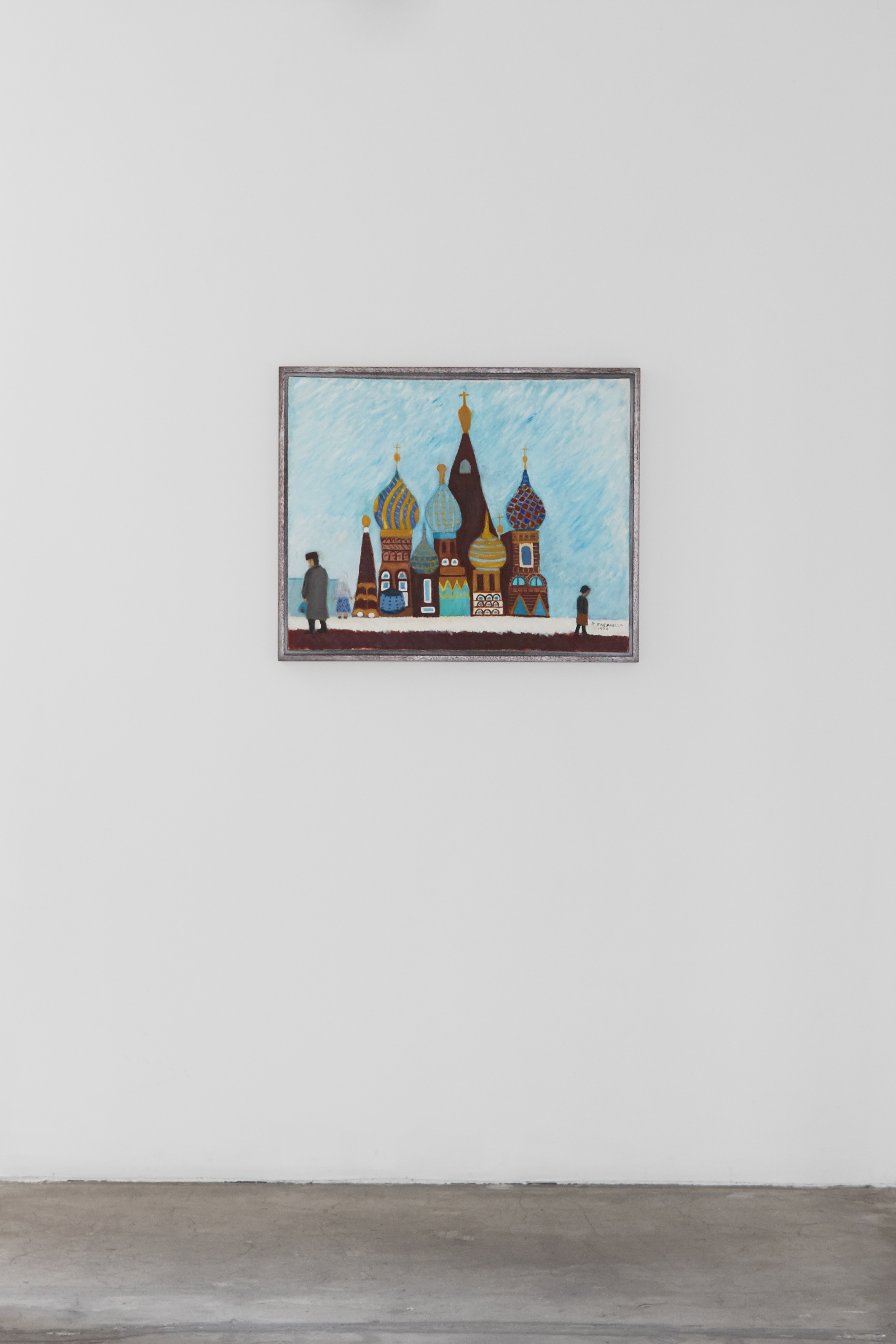 Ralph Fasanella, Moscow, 1990, oil on canvas