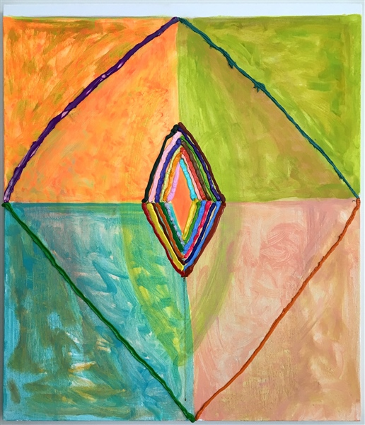 Judy Ledgerwood, Sheela, 2018, Oil on canvas, 36 x 30 inches