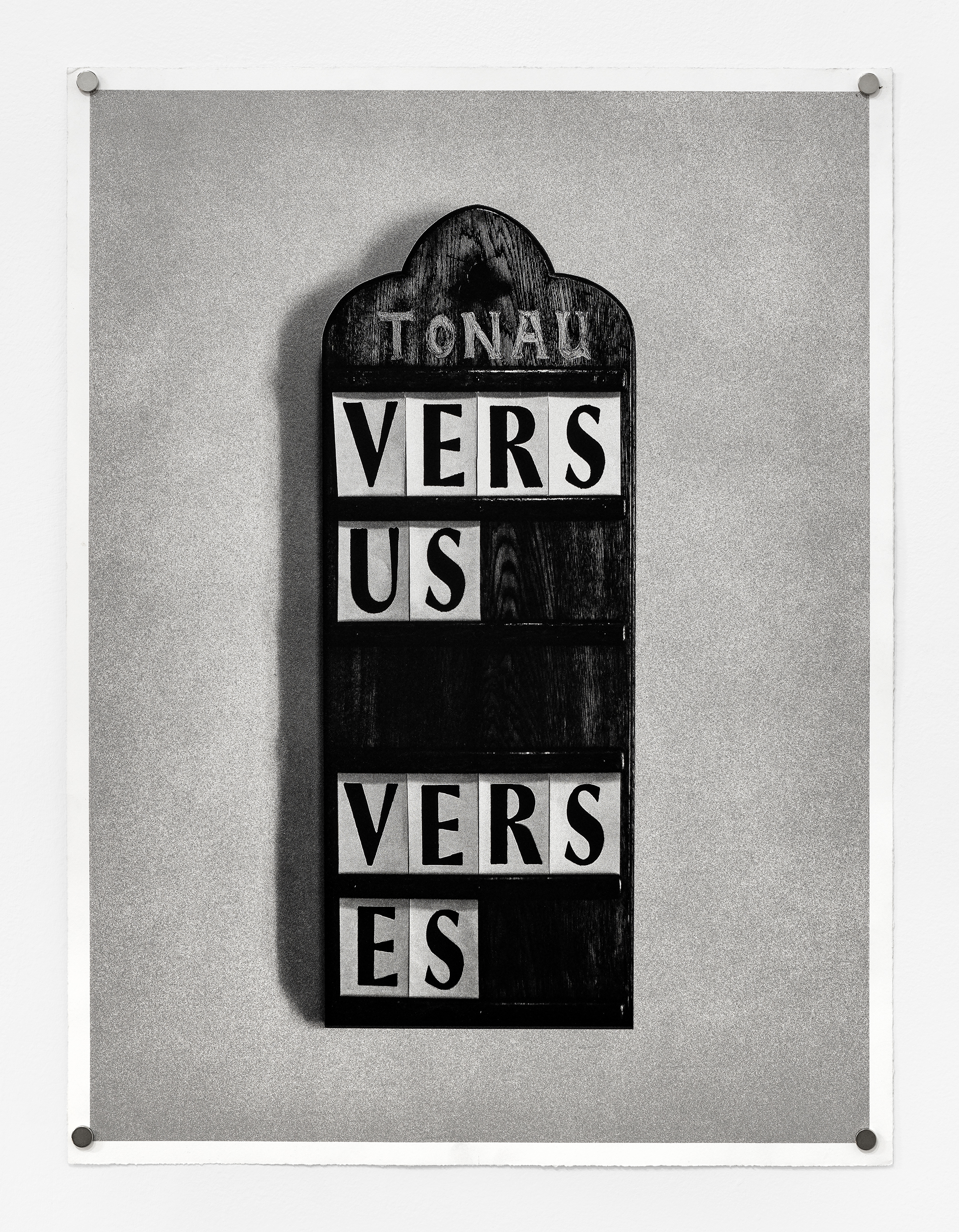 "Fiona Banner ""Vs.,"" 2013, Double-sided lithograph"