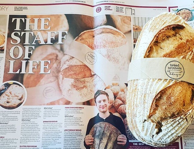 We're popping up everywhere! Our friends at @yarra_street_quartermasters spotted our sourdough in a recent 'Taste' segment in the Herald Sun. 🙌 Thanks @yarra_street_quartermasters for the photo & for stocking our products!