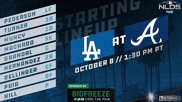 Let's finish this!!!!! @dodgers vs @braves 1:30pm . Doors open at 1pm. Go Dodgers!!