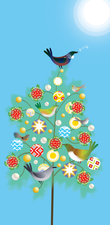 Native Birds Christmas Card