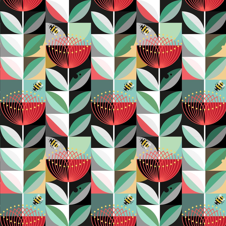 Pohutukawa Flower pattern