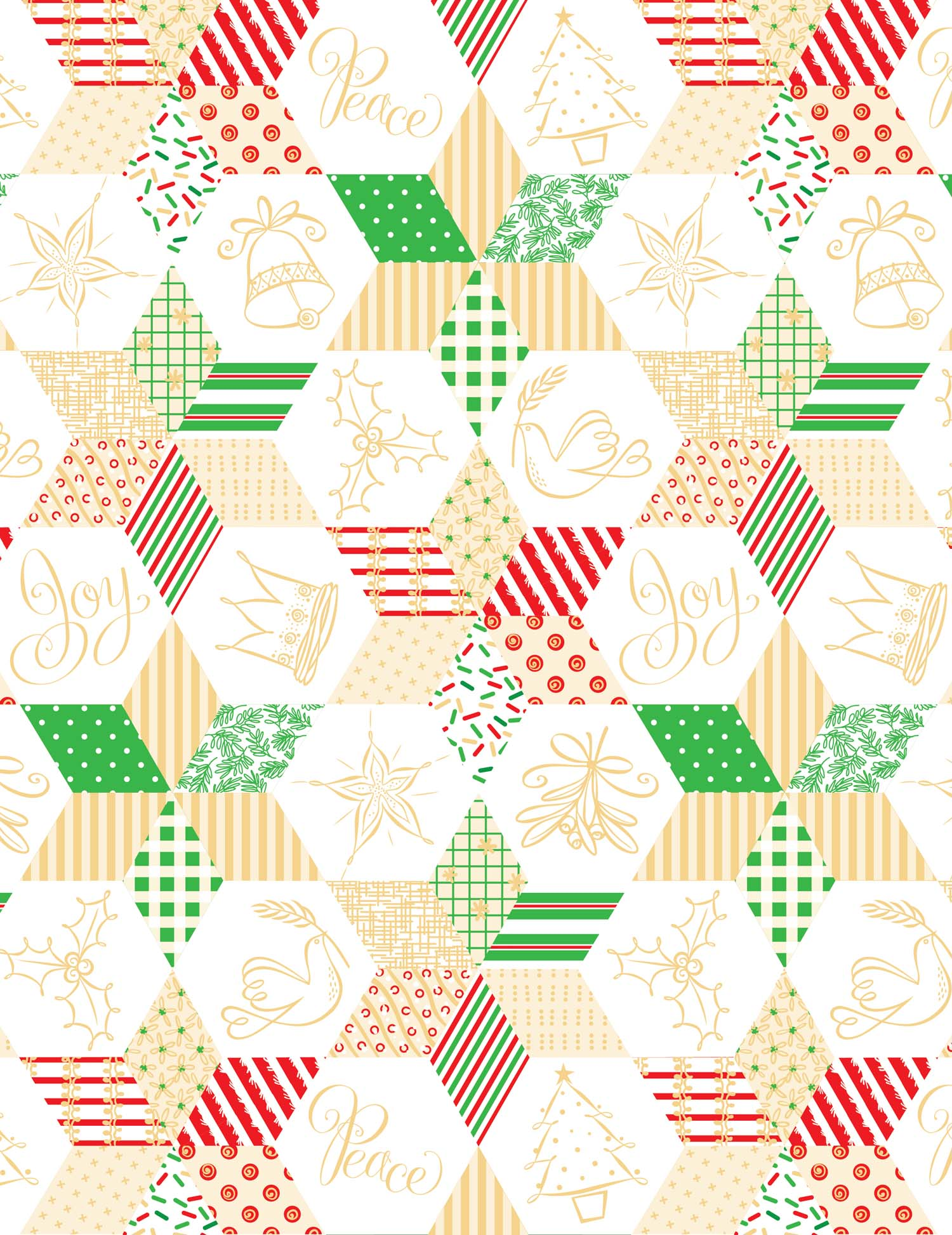 Peace and Joy wrapping paper
