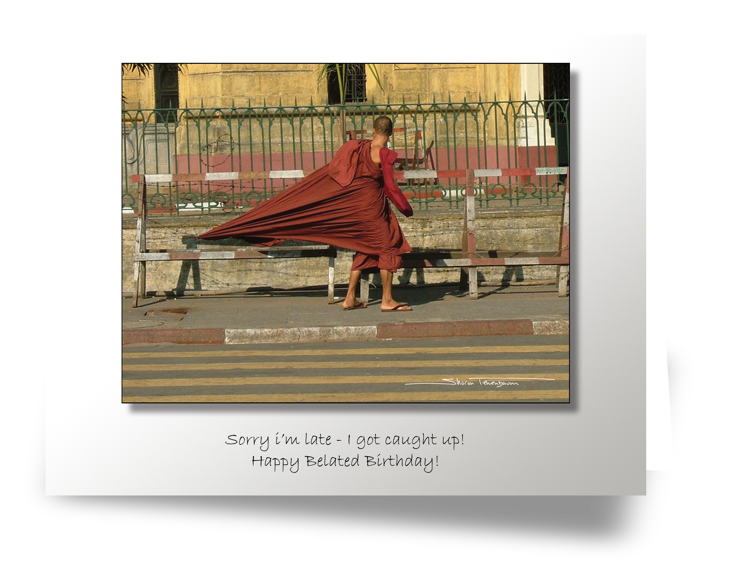 CL001A Monk with Robe Caught