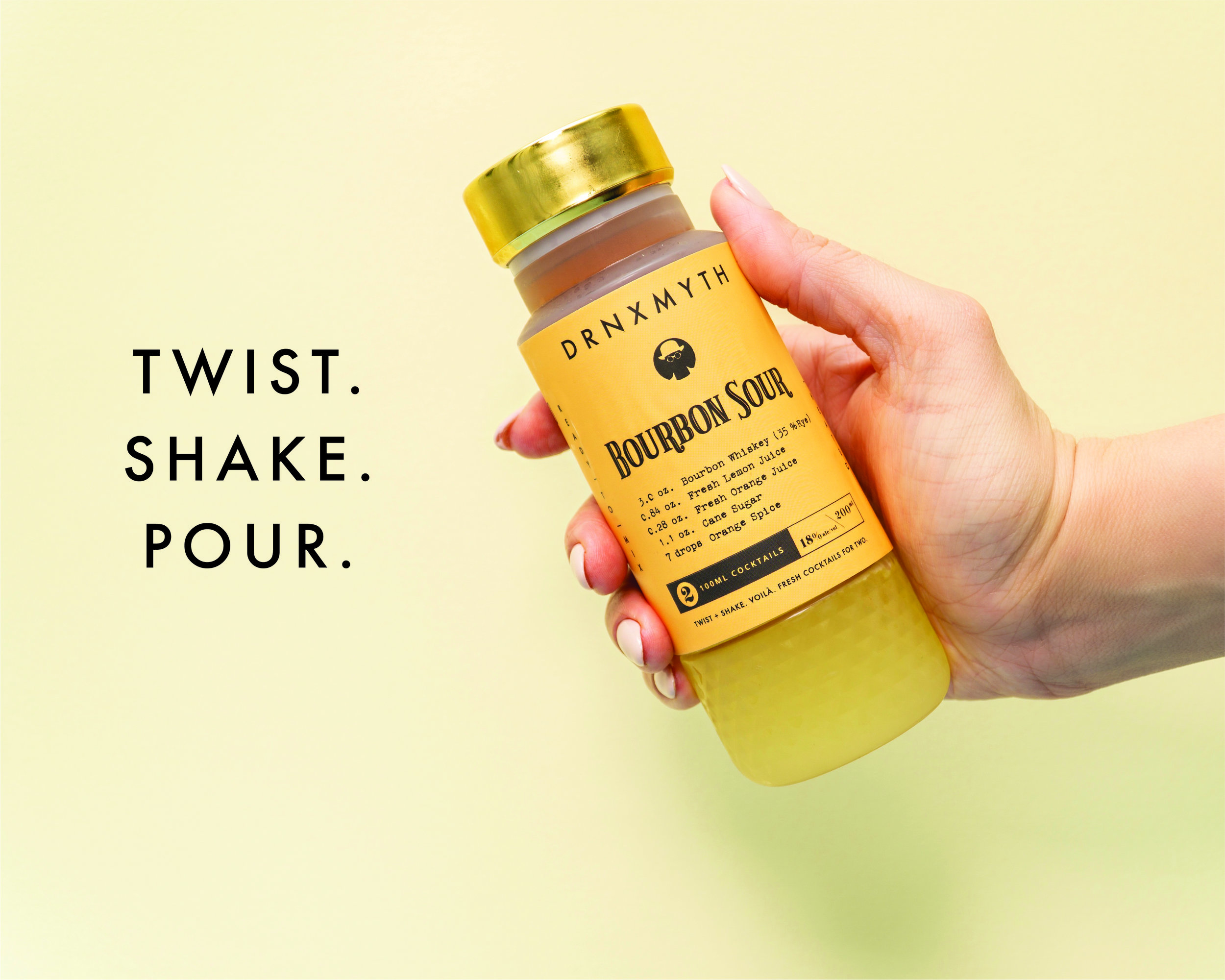 Experience the Bottle Tech. - Cold-pressed fresh ingredients, exquisite liquor, and hand-curated ingredients from the world's best bartenders. Our revolutionary bottling tech delivers fresh, un-mixed cocktails to your fridge. Twist, shake, and pour when you're ready for a drink.