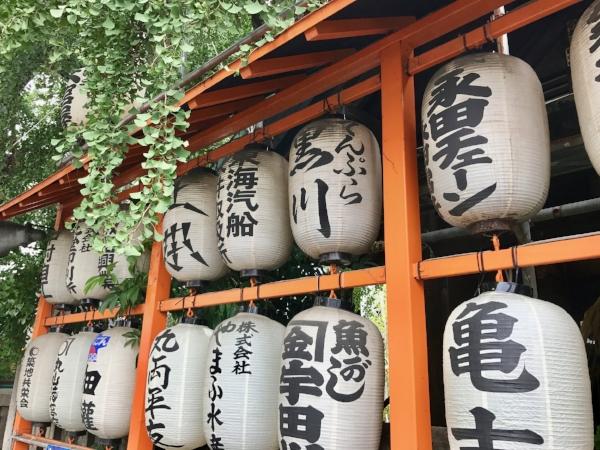 Paper lanterns in Tokyo, Japan