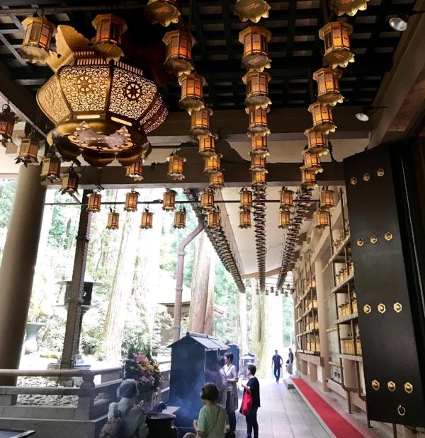 Hanging lanterns in Nikko, Japan.