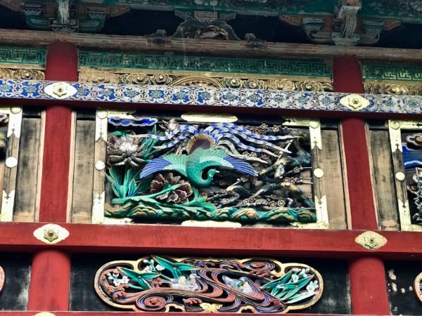 Temple decor in Nikko, Japan