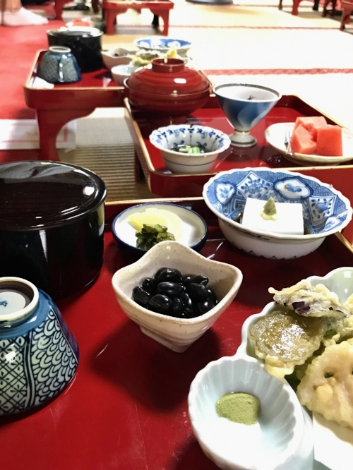 Surprisingly delicious  vegetarian meal made by monks in Mt. Koya, Japan