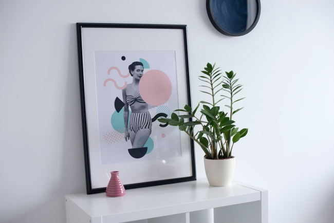 BIZ-LOCATION-art-in-home-woman-abstract-mixed-media-black-pink.jpg