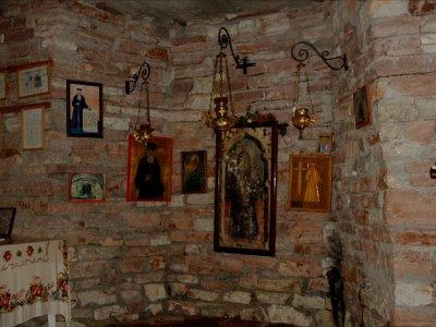 Inside the museum of St. Kosmas