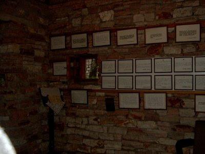 The prophecies of St. Kosmas inside the museum