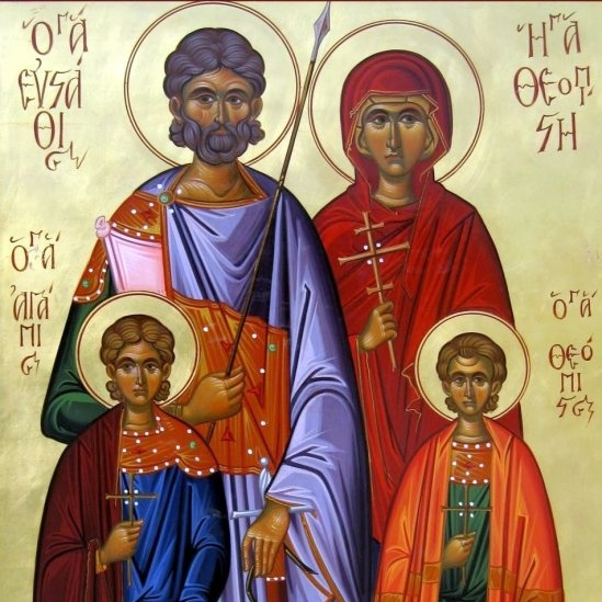 September 20: The Life and Passion of the Holy Great-martyr Eustathius Placidas, and of His Wife and Children -
