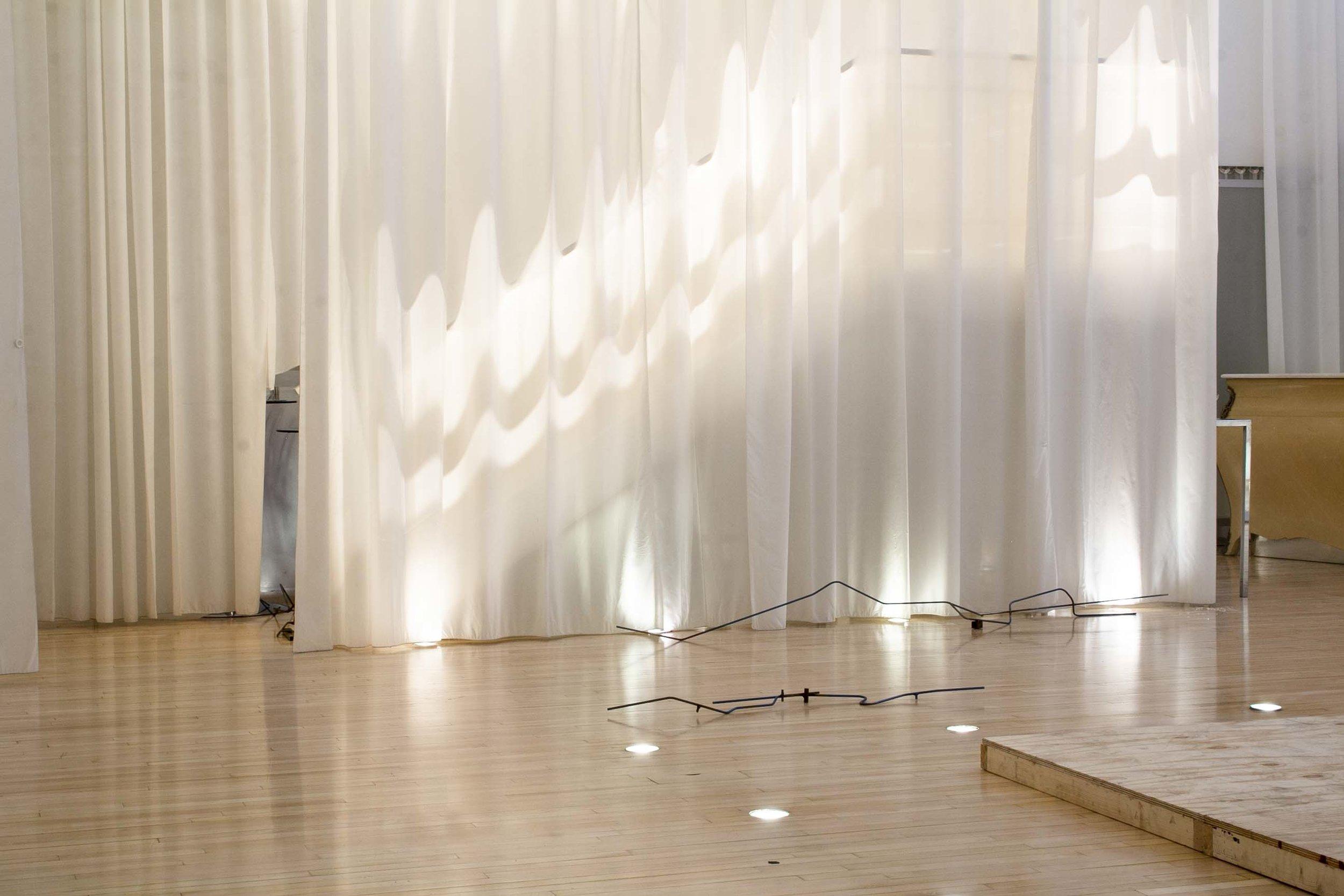 lub-dub-lub-dub-lub-dub… (when I stumble) 2019 installation views at Dazzling Encounters curated by Cristina Herráiz Peleteiro at Sanderson Hotel London UK