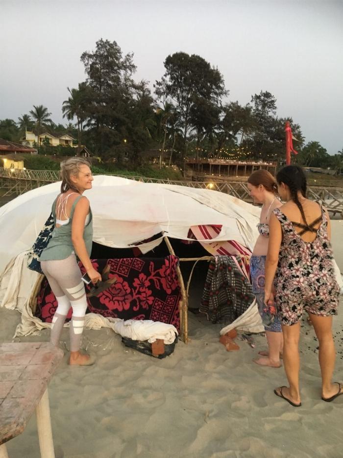 Exploring the sweat lodge