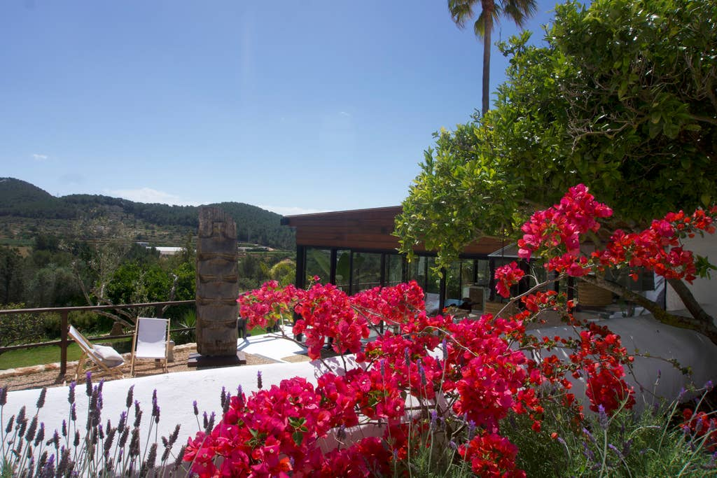 The views from the villa overlooking Santa Eulària des Riu valley