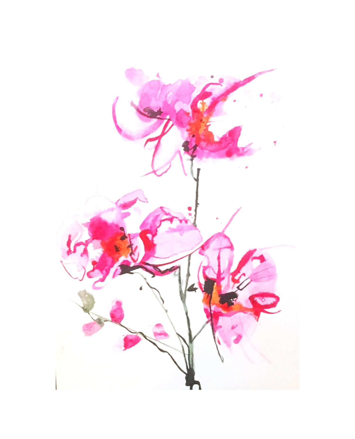Pink Orchid  SOLD