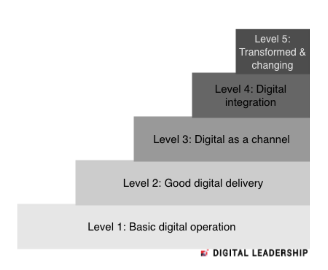 The five stages of digital maturity