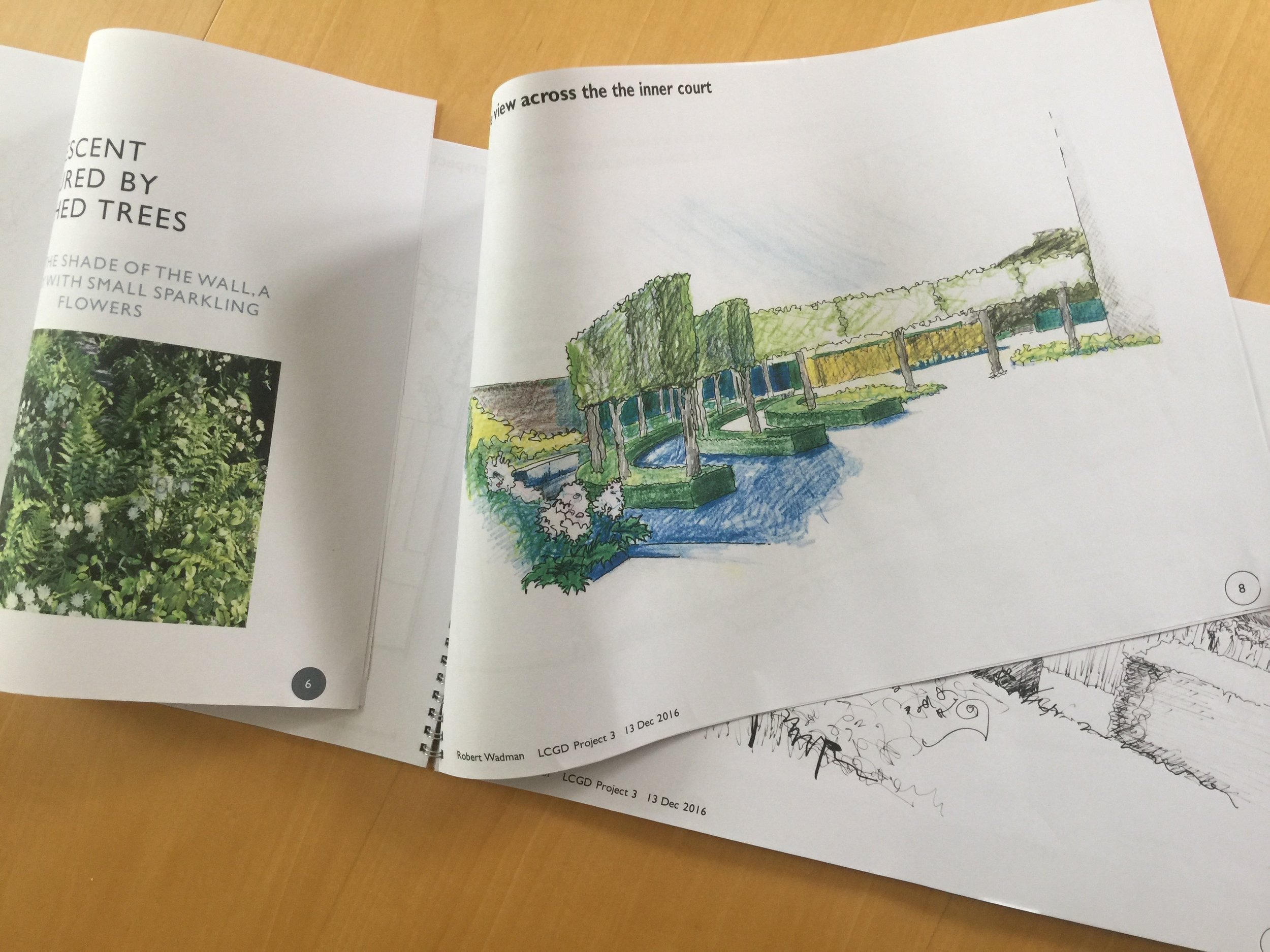 DESIGN CONCEPT - This is where the typical garden design process starts in the form of an outline design with a plan, illustrative drawings (visuals) and mood boards to show suggestions for plants and hard landscaping materials.Typically, a site survey is required to complete this stage.